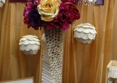 Tall Twist Vase for Book Theme Wedding