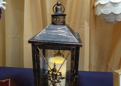 Antique Lantern for Bridal Show Booth