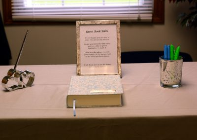 Bible Guest Book for Vow Renewal Wedding
