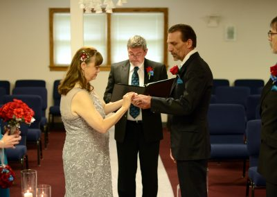 Exchanging Rings at Vow Renewal Wedding Ceremony