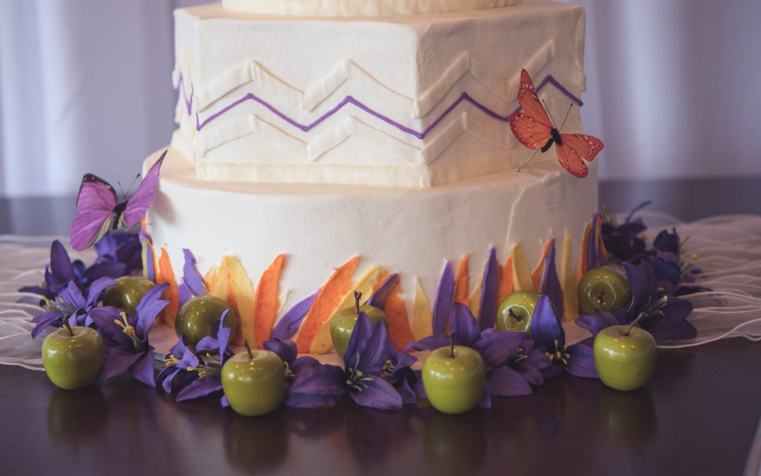 Wedding Cake, Purple, TLC Events & Weddings, Dayton, Ohio