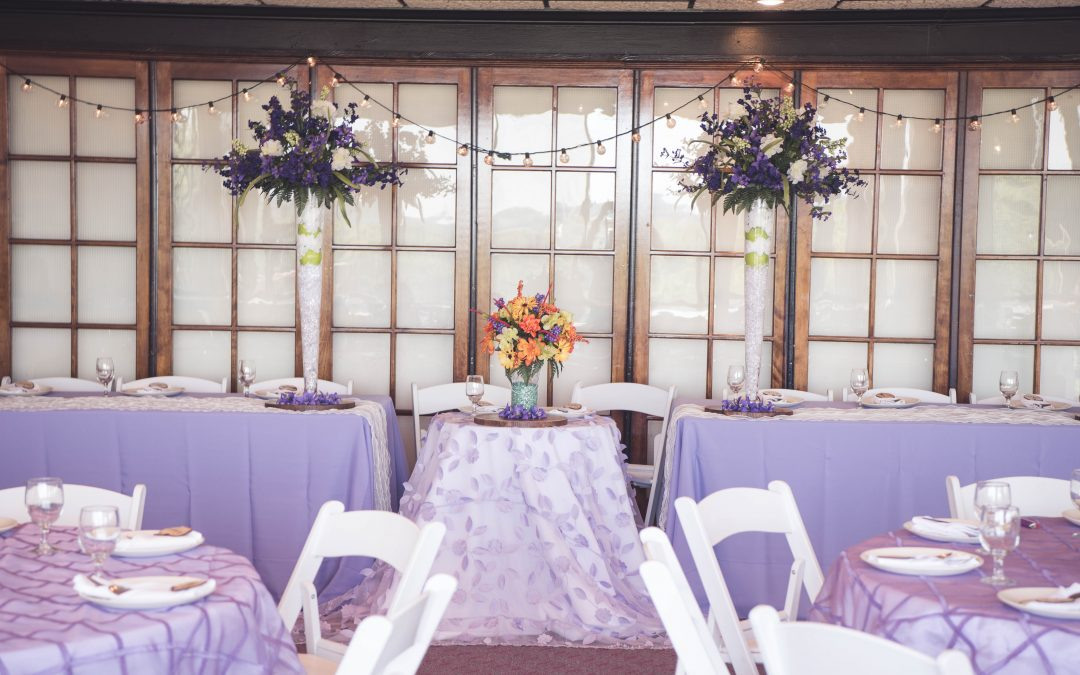 Lavendar-Orange Head Table, TLC Events & Weddings, Dayton, Ohio